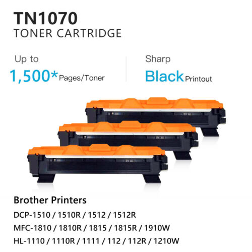 Compatible Toner TN 1070 for Brother HL 1110, DCP 1510, MFC 1810, 1500pgs