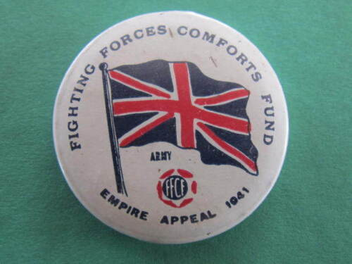 Army 1941 FFCF Fighting Forces Comforts Fund WW2 Pinback Button Badge1939 - 1945 (WWII) - 13977