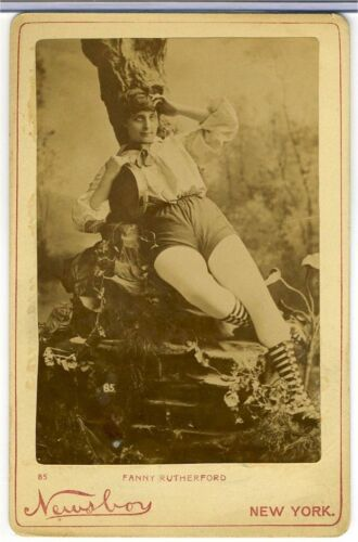 CABINET CARD –ACTRESS  FANNY RUTHERFORD -  RISQUE