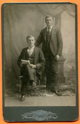 Brainerd, MN, Portrait of 2 Young Men, by Drysdale, circa 1900s