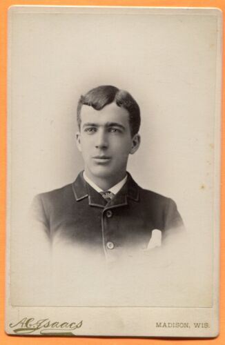Madison, WI, Portrait of a Young Man, by Isaacs, circa 1880s