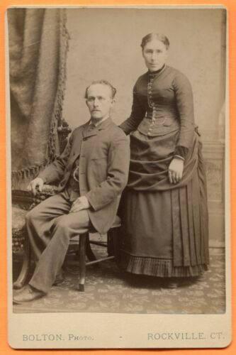 Rockville, CT, Portrait of a Couple, by Bolton, circa 1880s