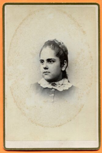 New York, NY, Portrait of a Young Woman, by Wilkie, circa 1880 Backstamp