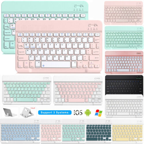 Wireless Bluetooth Keyboard With Stand Holder For iPad 5th 6th 7th Gen 10.2 2019