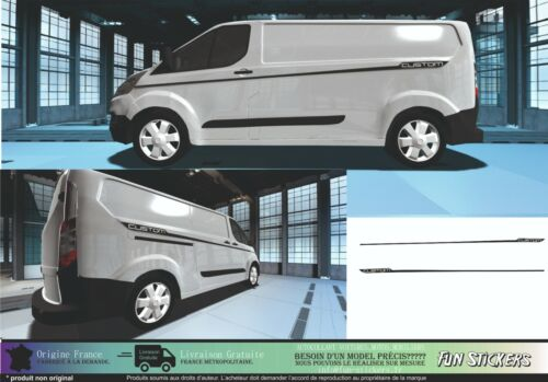 Ford Transit custom  bandes Racing Stripes graphique autocollants stickers