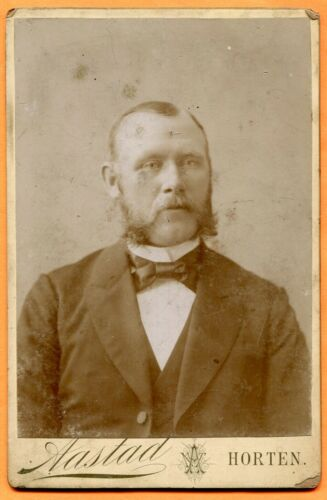 Horten, Norway, Portrait of a Young Man, by Aastaad, circa 1880s