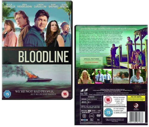 BLOODLINE 1 (2015): Key West Hotel TV Drama Season Series - NEW Rg2 DVD sp