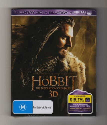 The Hobbit The Desolation Of Smaug 3D Blu-ray + Blu-ray - Brand New & Sealed