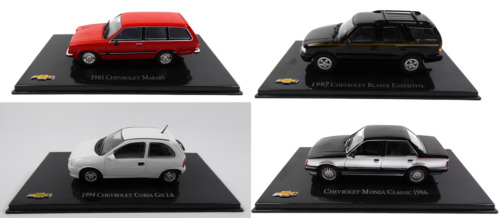 Lot de 4 Voitures Miniatures Chevrolet 1:43 - Diecast Car General Motors LC6