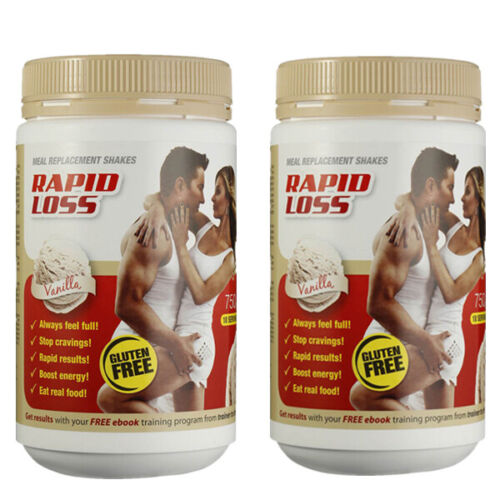 Rapid Loss Vanilla Meal Replacement Shakes Twin Pack Vanilla <br/> RRP $79 eBay Deal Sale Limited Time Only