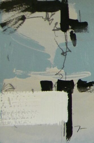 JOSE TRUJILLO Acrylic Painting Contemporary Abstract Designer Colors SIGNED 011