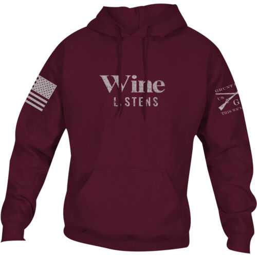 Grunt Style Women's Relaxed Fit Wine Listens Pullover Hoodie - Wine <br/> Exclusive Seller of Grunt Style on eBay