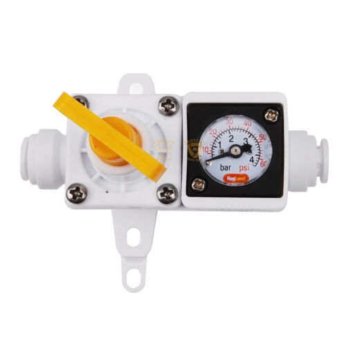 Duotight In Line Regulator with Integrated Gauge for Water or Gas Home Brew