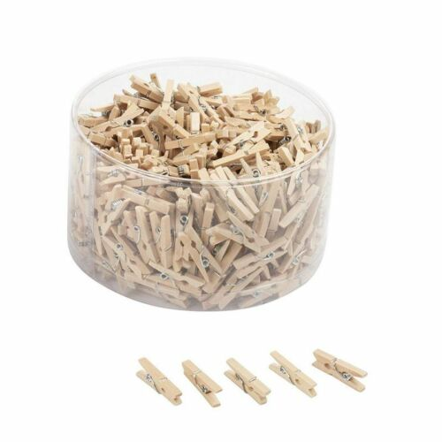 Mini Wooden Clothespins - 500-piece Unfinished Wooden Clips For Photo Clips