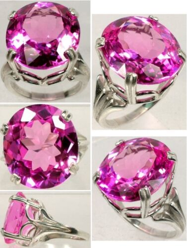 Pink Topaz Ring 31ct - Ancient Greece Intellect Anti-Evil Witchcraft Gem