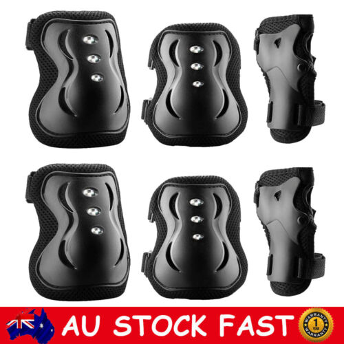 6 pcs Protective Gear Sets Elbow Knee Wrist Pad Safety Guard For Skating Cycling