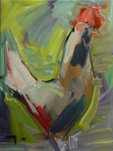 JOSE TRUJILLO - Impressionist Oil Painting Chicken Modern Abstract SIGNED ART