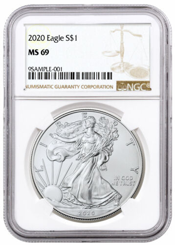2020 1 oz American Silver Eagle $1 Coin NGC MS69 Brown Label SKU59444 <br/> Buy With Confidence from ModernCoinMart (MCM) on ebay