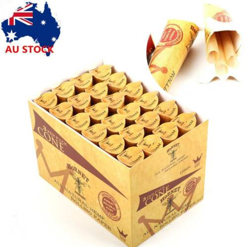 24X Pre-Rolled Smoking Cone 72 Cones 110MM Rolling Paper Natural Unrefined Paper