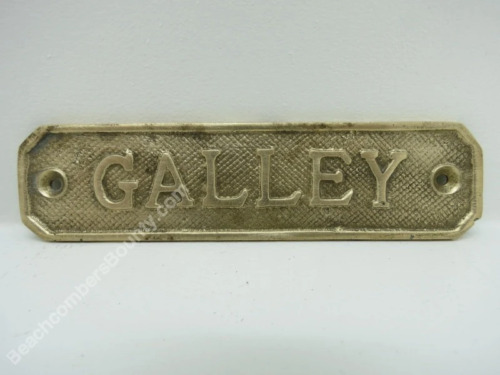 1+1/4 x 5+1/4 Solid Brass Galley Sign -(B5C2954)