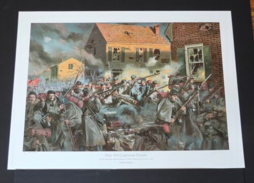 Don Troiani - Fire on Caroline Street - Collectible Civil War Print