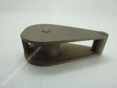 Antique 1+1/4 inch Bronze Pulley (XC4B271)