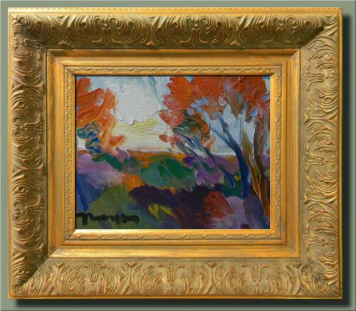 JOSE TRUJILLO - MODERN Impressionist Oil Painting FRAMED SIGNED CONTEMPORARY COA