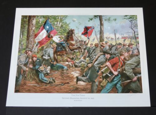 Don Troiani - The 5th Texas - Civil War Fine Art Print - Mint Condition