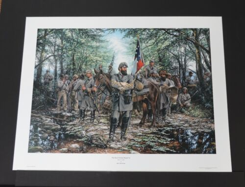 John Paul Strain - Road To Front Royal - Hand Signed - Civil War Print - MINT