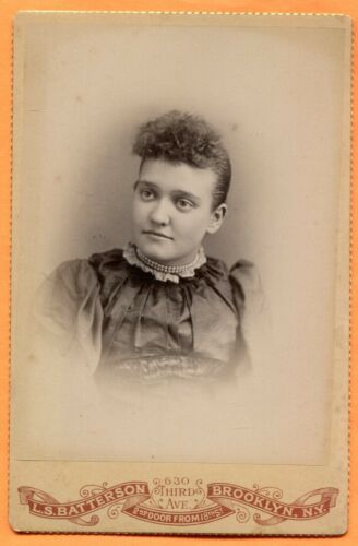 Brooklyn, NY Portrait of a Young Woman, by Batterson, circa1890