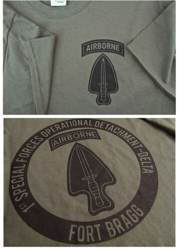 Delta Force Airborne (1st SFOD-D) Fort Bragg Silk-Screened T-Shirt LARGE Ultra COther Militaria - 135