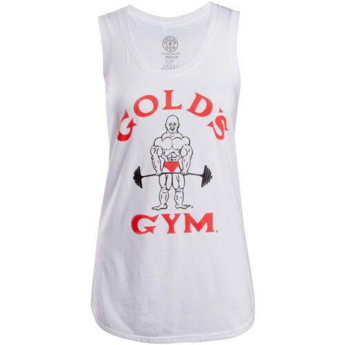 Gold's Gym Women's Classic Joe Racerback Tank Top - White <br/> Exclusive Seller of Gold's Gear on eBay