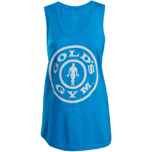 Gold's Gym Women's Weight Plate Racerback Tank Top - Blue <br/> Exclusive Seller of Gold's Gear on eBay