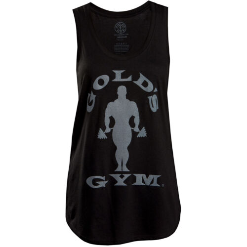 Gold's Gym Women's Silhouette Joe Racerback Tank Top - Black <br/> Exclusive Seller of Gold's Gear on eBay