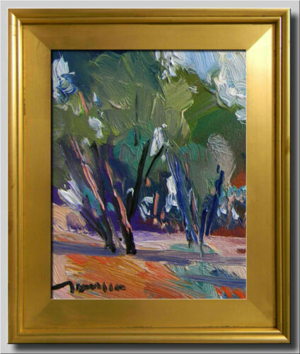JOSE TRUJILLO - FRAMED Original Oil Painting POST IMPRESSIONIST ABSTRACT SIGNED