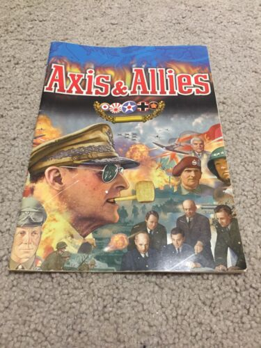 Axis and Allies PC Game Manual Only 1998 Vintage Hasbro Interactive
