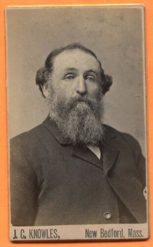 CDV New Bedford, MA, Portrait of a Bearded Man, by Knowles, circa 1880s