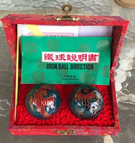 Vintage Chinese Iron Ball Direction Meditation Relaxation Stress Relief Balls