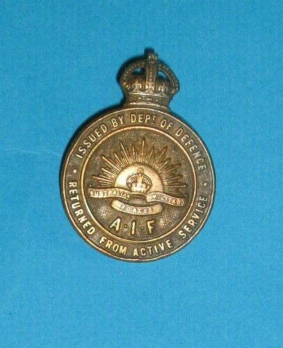 WW1 Returned From Active Service Badge AIF