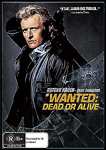 Wanted : Dead or Alive -Rutger Hauer - New & Sealed - Region 4 -R18+