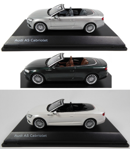 Lot de 3 Audi A5 Cabriolet 1/43 Spark - Voiture miniature Diecast Model Car AU8