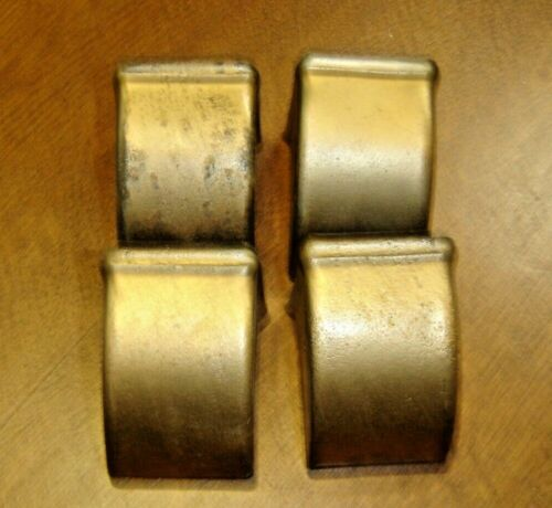 """Salvage  Set of 4 Brass Feet ~ painted gold OD dimensions: 2"""" deep X 1 5/8""""  972"""