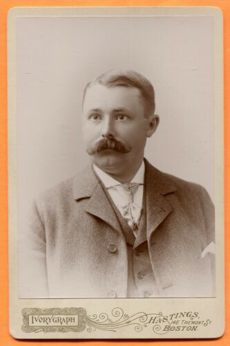 Boston, MA, Portrait of a Young Man, by Hastings, circa 1890s