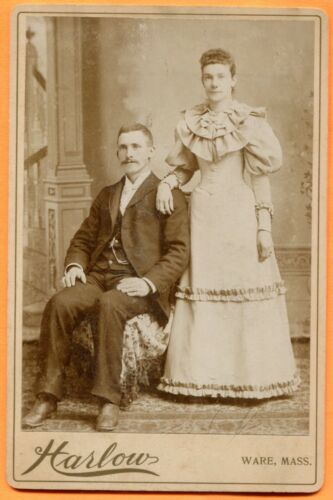 Ware, MA, Portrait of a Young Couple, by Harlow, circa 1890s
