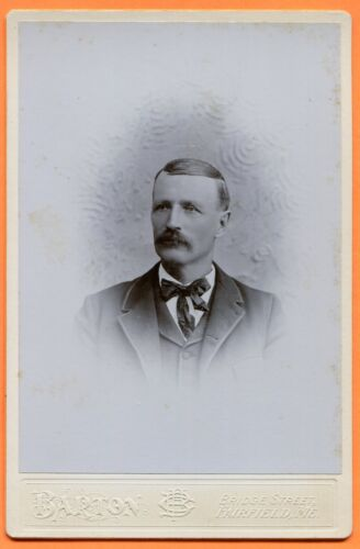 Fairfield, ME, Portrait of a Man, by Barton, circa 1890s