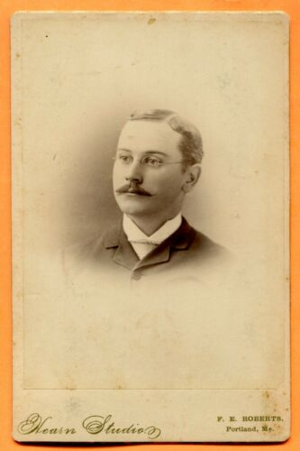 Portland, ME, Portrait of a Young Man, by Hearn, circa 1880s