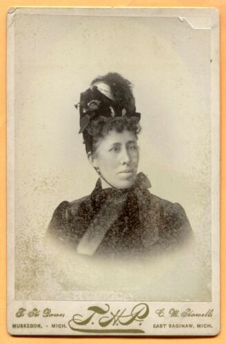 East Saginaw, MI, Portrait of a Young Woman, by Power & Howell, circa 1890