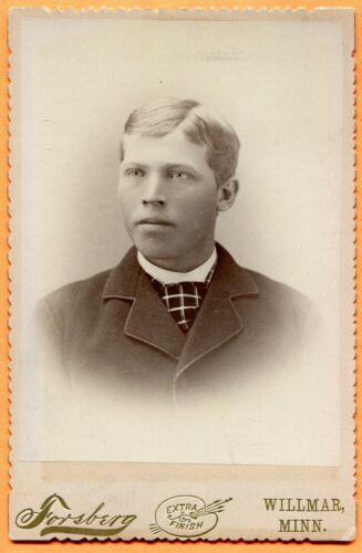 Willmar, MN, Portrait of a Young Man, by Forsberg, circa 1890