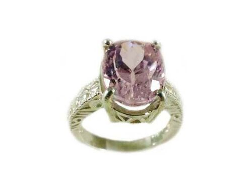 Pink Kunzite Ring 7½ct Afghani 19thC Antique: Ancient Lucky Amulet Purity Symbol