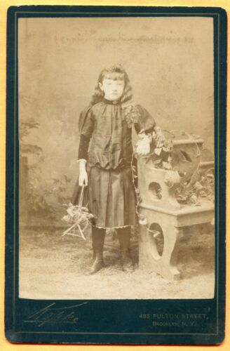 Brooklyn, NY, Portrait of a Girl, by Kopke, circa 1890s  Backstamp